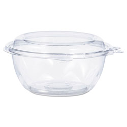 Dart Tamper-Resistant, Tamper-Evident Bowls with Dome Lid, 12 oz, Clear, 240/Carton