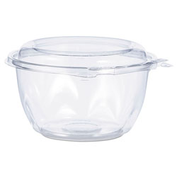 Dart Tamper-Resistant, Tamper-Evident Bowls with Dome Lid, 16 oz, Clear, 240/Carton