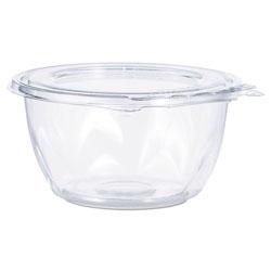 Dart Tamper-Resistant, Tamper-Evident Bowls with Flat Lid, 16 oz, Clear, 240/Carton