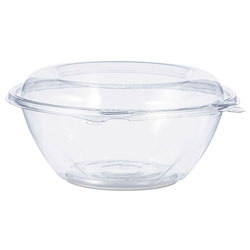 Dart Tamper-Resistant, Tamper-Evident Bowls with Dome Lid, 24 oz, Clear, 150/Carton