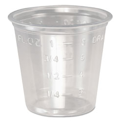 Solo Plastic Medical & Dental Cups, 1 oz, Clear, Graduated, 5000/Carton