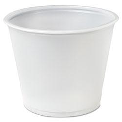 Solo Plastic Soufflé Portion Cups, 5 1/2 oz., Translucent, 250/Bag