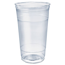 Solo Ultra Clear PETE Cold Cups, 32 oz, Clear, 300/Carton