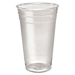 Solo Ultra Clear PETE Cold Cups, 24 oz, Clear, 50/Sleeve, 12 Sleeves/Carton