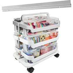 Deflecto Caddy Organizer System, Stackable, 16 inW x 11 inL x 22-1/4 inH, AST