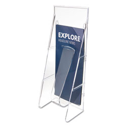Deflecto Stand-Tall Wall-Mount Literature Rack, Leaflet, 4.56w x 3.25d x 11.88h, Clear