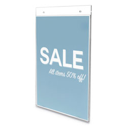 Deflecto Classic Image Wall Sign Holder, 8 1/2 in x 11 in, Clear Frame, 12/Pack