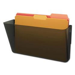 Deflecto DocuPocket Stackable Wall Pocket, Letter, 13 x 7 x 4, Smoke