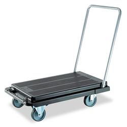 Deflecto Heavy-Duty Platform Cart, 500 lb Capacity, 21 x 32.5 x 37.5, Black