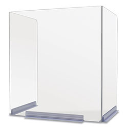 Deflecto Classroom Barriers, 18 x 14.5 x 20, Polycarbonate, Clear, 4/Carton