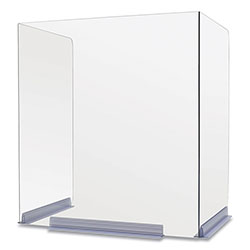 Deflecto Classroom Barriers, 22 x 16 x 24, Polycarbonate, Clear, 4/Carton