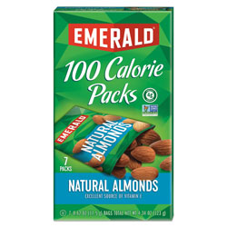 Emerald 100 Calorie Pack All Natural Almonds, 0.63 oz Packs, 84/Carton