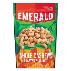 Emerald Roasted and Salted Cashew Nuts, 5 oz Pack, 6/Carton