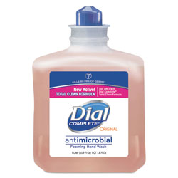 Dial Antimicrobial Foaming Hand Wash, 1000mL Refill, 6/Carton