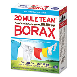 Dial 20 Mule Team Borax Laundry Booster, Powder, 4 lb Box, 6 Boxes/Carton