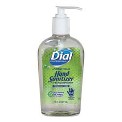 Dial Antibacterial Gel Hand Sanitizer with Moisturizers, 7.5oz Pump Bottle, 12/Carton
