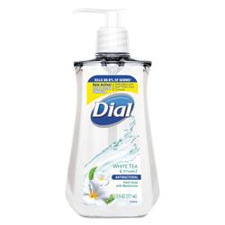 Dial Antibacterial Liquid Soap, 7.5 oz Pump Bottle, White Tea, 12/Carton