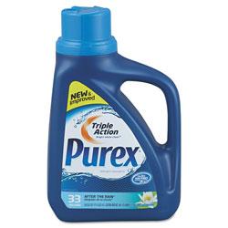 Purex Liquid HE Detergent, After the Rain Scent, 50oz Bottle, 6/Carton