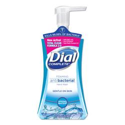 Dial Antibacterial Foaming Hand Wash, Spring Water, 7.5 oz, 8/Carton