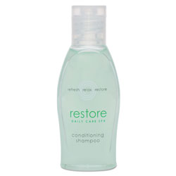 Dial Restore Conditioning Shampoo, Aloe, 1 oz Bottle, Clean Scent, 288/Carton