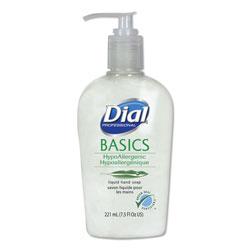 Dial Basics Liquid Hand Soap, 7.5 oz, Fresh Floral, 12/Carton