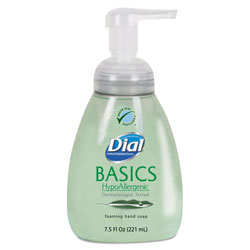 Dial Basics Foaming Hand Soap, 7.5oz, Honeysuckle, 8/Carton