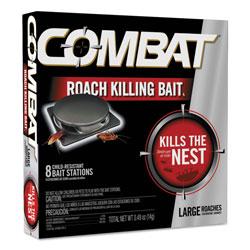 Combat Source Kill Large Roach Killing System, Child-Resistant Disc, 8/PK, 12 PK/CT