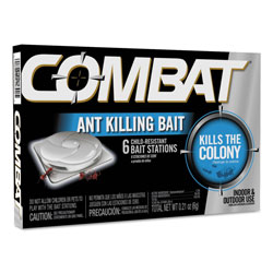 Combat Combat Ant Killing System, Child-Resistant, Kills Queen and Colony, 6/Box, 12 Boxes/Carton