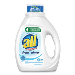 All Ultra Free Clear Liquid Detergent, Unscented, 36 oz Bottle