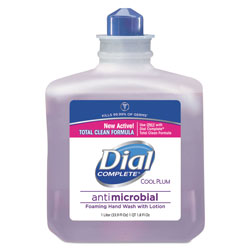 Dial Antimicrobial Foaming Hand Wash, Cool Plum Scent, 1000mL Bottle, 4/Carton