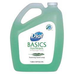Dial Basics Foaming Hand Soap, Original, Honeysuckle, 1 gal Bottle, 4/Carton