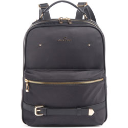 bugatti Backpack, Presto Collection, 4 inWx13-3/4 inLx10 inH, Black