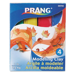 Prang Modeling Clay Assortment, 1/4 lb each Blue/Green/Red/Yellow, 1 lb