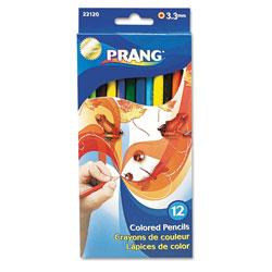 Prang Colored Pencil Sets, 3.3 mm, 2B (#1), Assorted Lead/Barrel Colors, Dozen