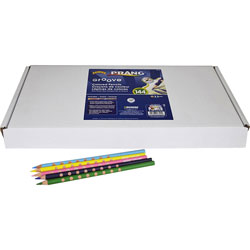 Prang Prang Groove Colored Pencils, 144/ST, Assorted