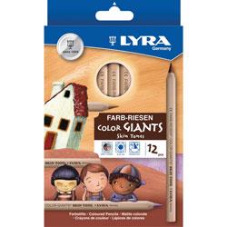 LYRA Color Pencils,Hexagon, 6.25mm Core,12/ST,Skin Tones