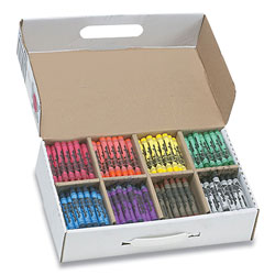 Prang Crayons Class Pack, Large, 8 Colors, 400/Carton