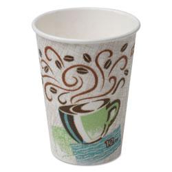 Dixie Hot Cups, Paper, 12oz, Coffee Dreams Design, 500/Carton