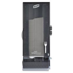 Dixie SmartStock Utensil Dispenser, Fork, 10 in x 8.78 in x 24.75 in, Smoke