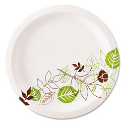 Dixie Pathways Soak-Proof Shield Mediumweight Paper Plates, 6 7/8 in, 8 Pks/125,1000/Ct