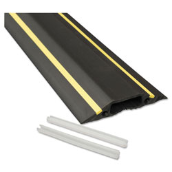 D-Line® Medium-Duty Floor Cable Cover, 3.25 x 0.5 x 6 ft, Black with Yellow Stripe