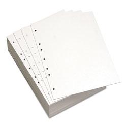 Domtar Custom Cut-Sheet Copy Paper, 92 Bright, 7-Hole, 20lb, 8.5 x 11, White, 500/Ream