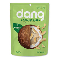 dang Coconut Chips, Original, 1.43 oz Bag, 12/Carton