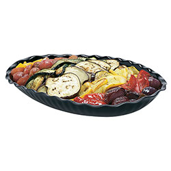 Cambro Deli Platter Oval 15 in X 12 in Black