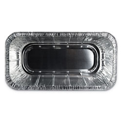 Durable Packaging Aluminum Steam Table Pans, Third Size, 5 lb. Loaf, 100/Carton