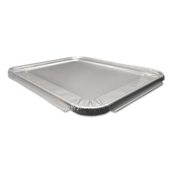 Durable Packaging Aluminum Steam Table Lids for Half Size Pan, 100 /Carton