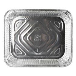 Durable Packaging Aluminum Steam Table Pans, Half Size, Shallow, 100/Carton