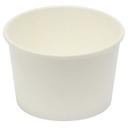 Eatery Essentials Koda 8oz Heavy Weight Paper Food Container, Bulk 20/50, White