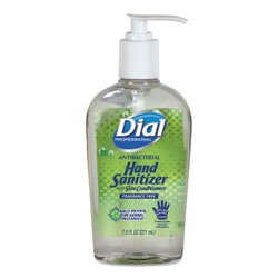 Dial Antibacterial Gel Hand Sanitizer with Moisturizer, 7.5 oz, Pump, Fragrance-Free