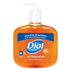 Dial Gold Antimicrobial Hand Soap, Floral Fragrance, 16 oz Pump Bottle, 12/Carton